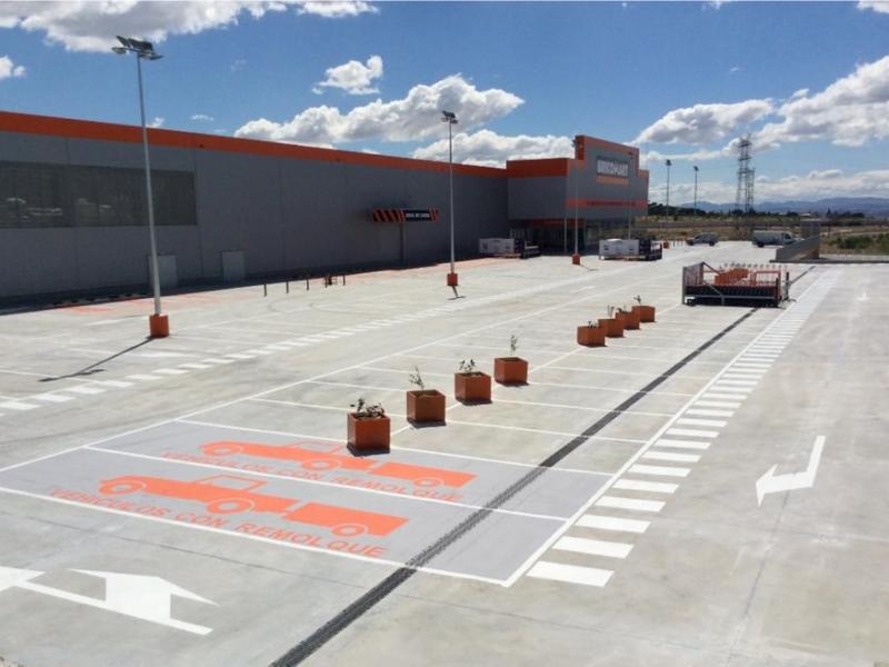 Impermeabilización de la Cubierta Parking Bricomart Majadahonda Madrid